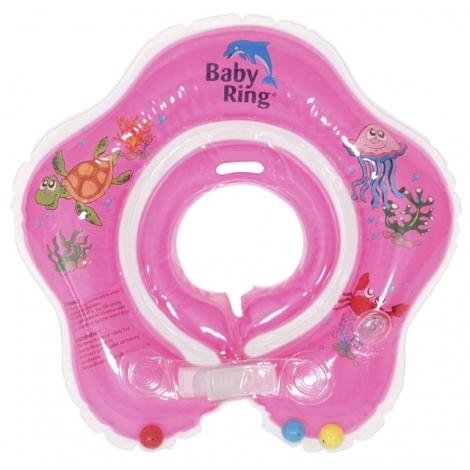 BABY RING kruh na koupání 3 - 36 měsíců růžová