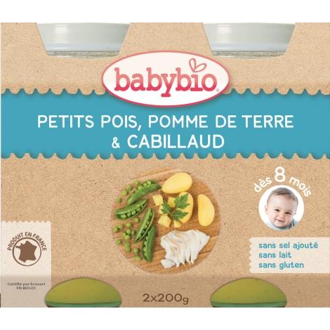 BABYBIO zelenina s treskou 2x200g