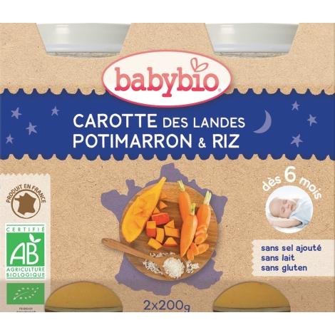BABYBIO zeleninový příkrm mrkev dýně rýže 2x200g