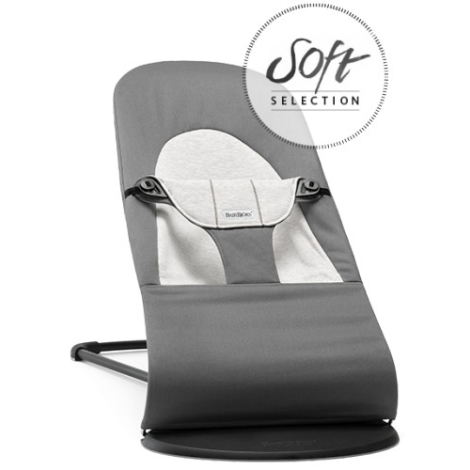 BABYBJÖRN lehátko BALANCE Soft Cotton Jersey Dark Grey/Grey