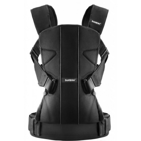 BABYBJÖRN One ergonomické nosítko Cotton mix Black