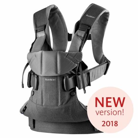 BABYBJÖRN One ergonomické nosítko Denim Grey/Dark Grey Cotton