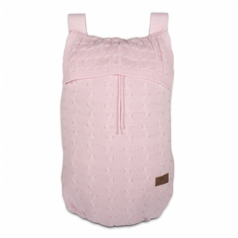BABYS ONLY Cable Uni Bag Taška na postýlku Baby Pink