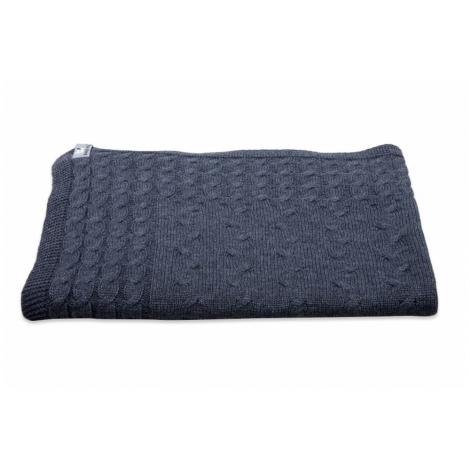 BABYS ONLY Cable Uni Blanket Dětská deka 130 x 100 cm Anthracite