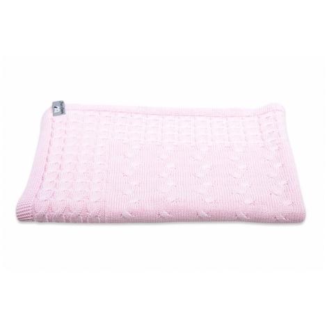 BABYS ONLY Cable Uni Blanket Dětská deka 130 x 100 cm Baby Pink