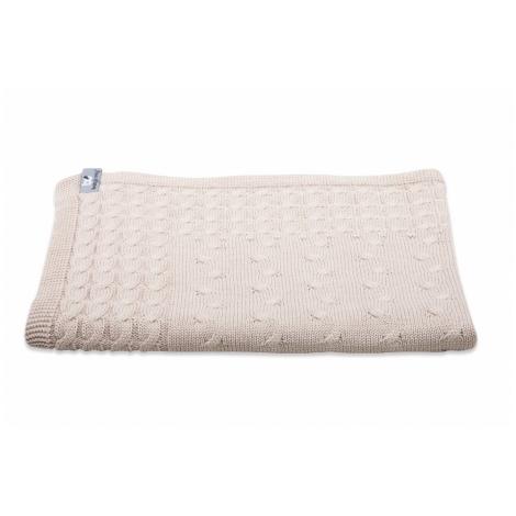 BABYS ONLY Cable Uni Blanket Dětská deka 130 x 100 cm Beige