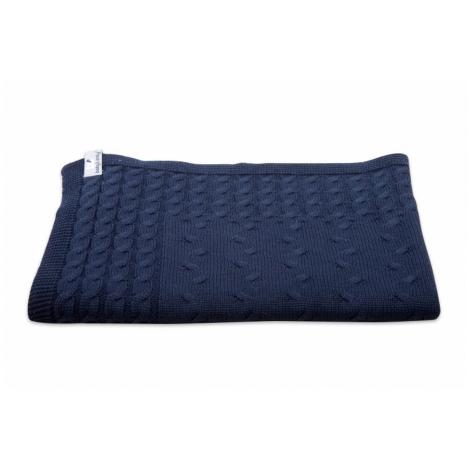 BABYS ONLY Cable Uni Blanket Dětská deka 130 x 100 cm Dark Blue