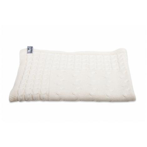 BABYS ONLY Cable Uni Blanket Dětská deka 130 x 100 cm Ecru