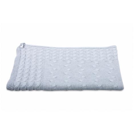 BABYS ONLY Cable Uni Blanket Dětská deka 130 x 100 cm Light Grey