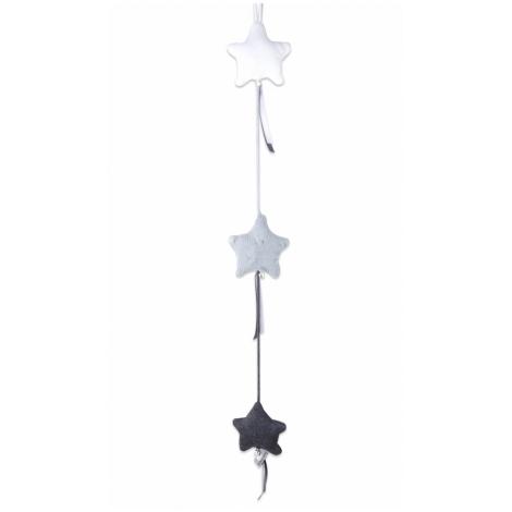BABYS ONLY Cable Uni Stars Decoration Dekorace 3 hvězdy Anthracite