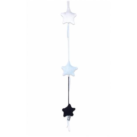 BABYS ONLY Cable Uni Stars Decoration Dekorace 3 hvězdy Dark Blue