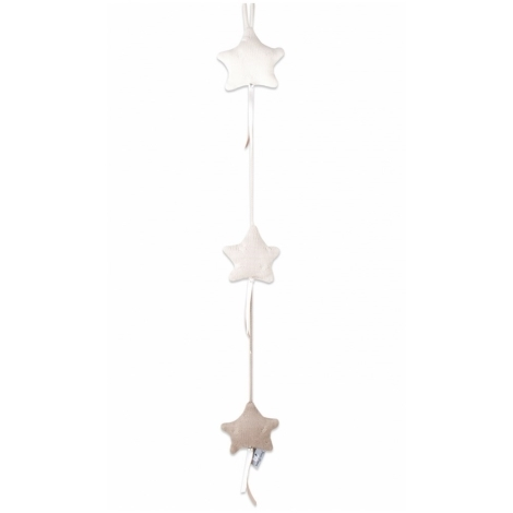 BABYS ONLY Cable Uni Stars Decoration Dekorace 3 hvězdy Ecru
