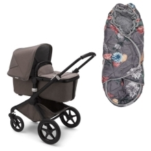 BUGABOO Fox2 Mineral complete Black/Taupe + dárek Lodger Bunker Peony
