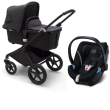 BUGABOO Fox2 Mineral complete Black/Washed Black + Cybex Aton 5 Deep Black