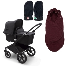 BUGABOO Fox2 Mineral complete Black/Washed Black + DÁRKY Black/Parrot