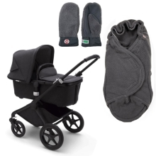BUGABOO Fox2 Mineral complete Black/Washed Black + DÁRKY Donkey
