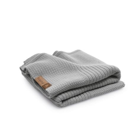 BUGABOO Jemná vlněná deka Light Grey Melange