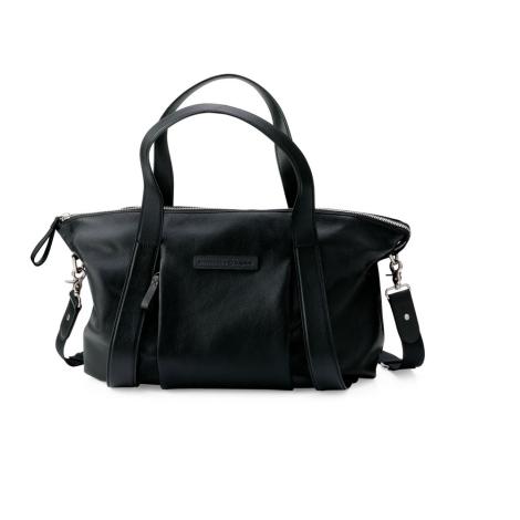 BUGABOO STORKSAK Přebalovací taška kožená Black