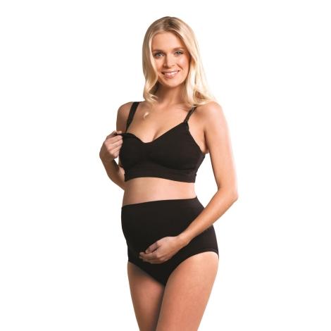 CARRIWELL podprsenka ke kojení bezešvá s gelovou kosticí černá