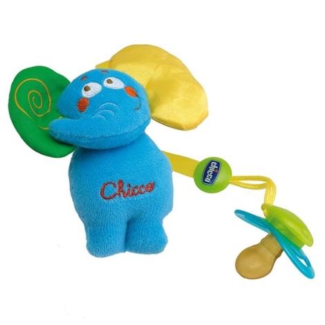 CHICCO řetízek na dudlík plyšový slon