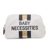 CHILDHOME Baby Necessities Canvas Off White Stripes Black/Gold