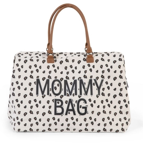 CHILDHOME Mommy Bag Big Canvas Leopard