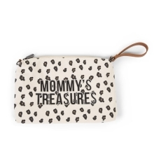 CHILDHOME Mommy Clutch Canvas Leopard