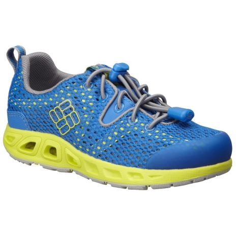 COLUMBIA Childrens Drainmaker II Hyper Blue,Safety Yellow vel.10
