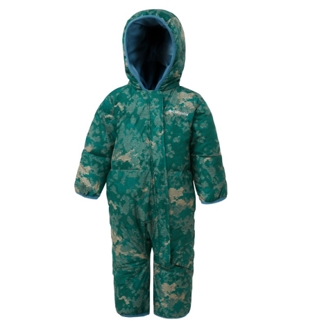 COLUMBIA Snuggly Bunny Bunting Pine Green Conttinents Camo, Blue Heron 2019 18/24