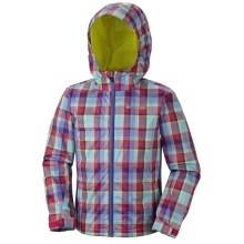 COLUMBIA Splash Maker II Rain Jacket Laser Red Plaid