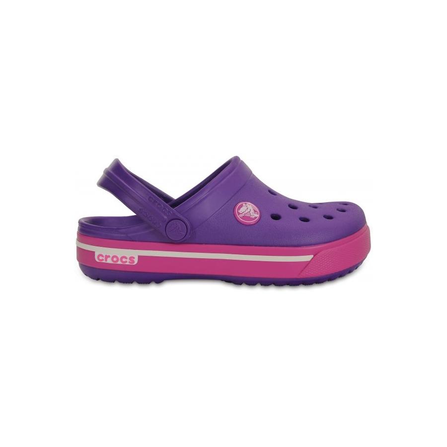 CROCS Crocband II.5 Clog Kid Neon Purple Neon Magenta C10 11 ... d9802b310e