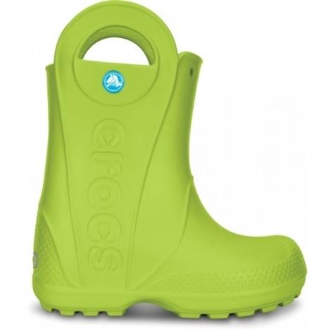 CROCS Handle It Rain Boot Kids Volt Green C12