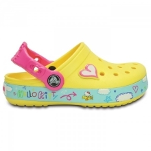 CROCS Hello Kitty Plane Clog Sunshine