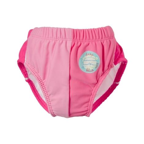 DIMO-TEX Plavky plenkové s potiskem medvídka růžové