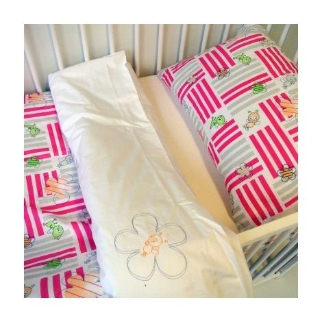 DITA set povlečení 2-díly růžový čmelák/bílá