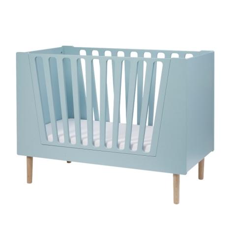 DONE BY DEER Dětská postýlka 120 x 60 cm modrá