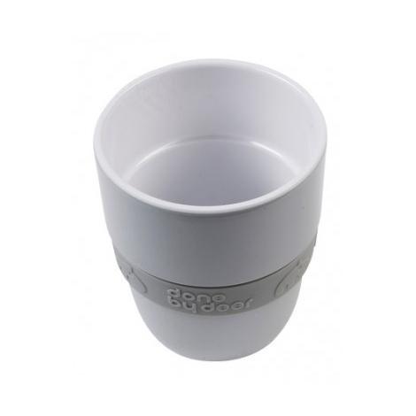 DONE BY DEER Hrníček Elphee Yummy Mug se silikonovým kroužkem šedý