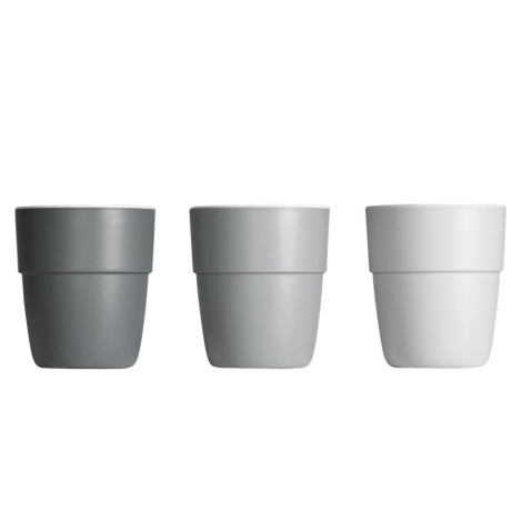 DONE BY DEER Hrníček Yummy Mini Mug 3 ks, šedá
