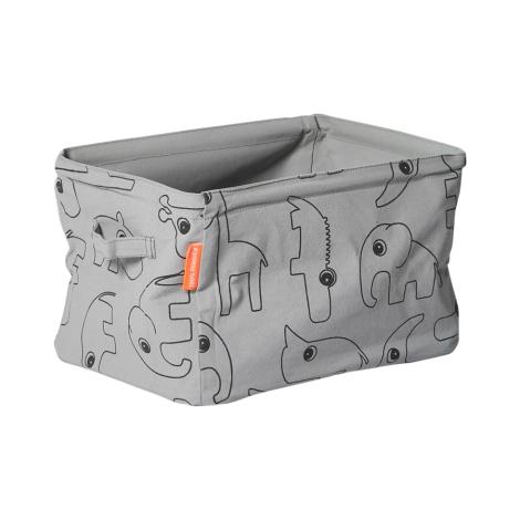 DONE BY DEER Oboustranný měkký úložný košík šedá