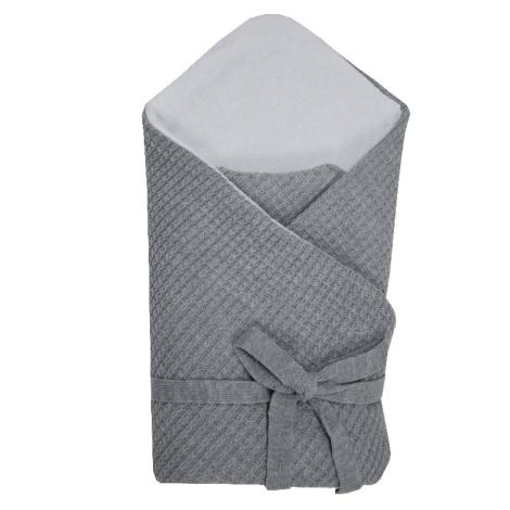 EKO Zavinovačka z pleteniny copánky šedá