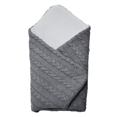 EKO Zavinovačka z pleteniny klasy šedá