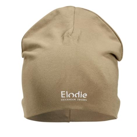 ELODIE DETAILS Bavlněná čepice Logo Warm Sand 0 - 6 m