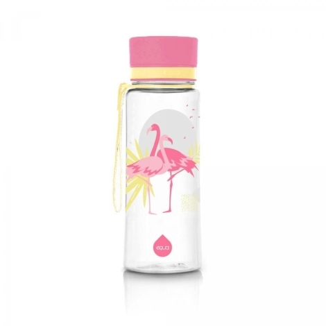 EQUA Plastová láhev Flamingo 600 ml