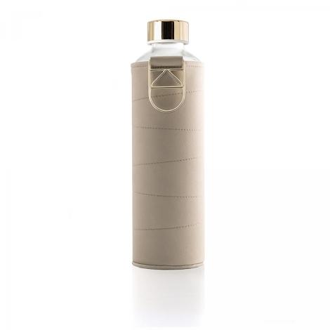 EQUA Skleněná láhev s koženým obalem Mismatch Beige 750 ml