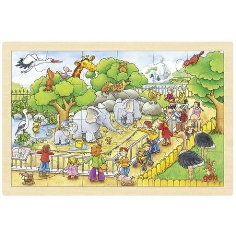 GOKI Puzzle na desce návštěva ZOO