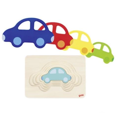 GOKI Vícevrstvé puzzle auto