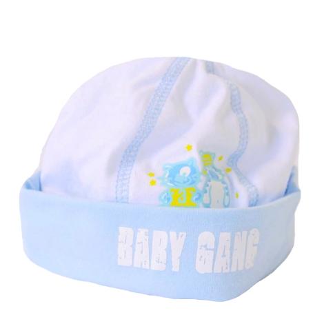 GRAZIELLA Čepice Baby Gang bílá/modrý lem