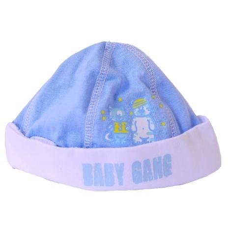 GRAZIELLA Čepice Baby Gang modrá/bílý lem