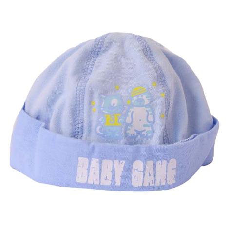 GRAZIELLA Čepice Baby Gang modrá/modrý lem