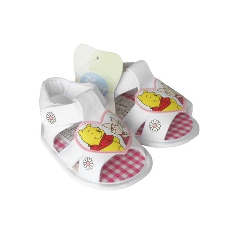 GRAZIELLA Sandále Pooh s kytičkami bílá 16